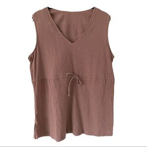 Columbia Brown Cotton sleeveless Tunic Top Large